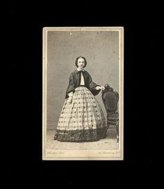 Vintage JOHNSTON BROS. CDV Photo 1860s New York City Photographer