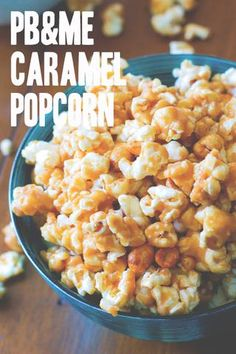 caramel peanut butter popcorn,