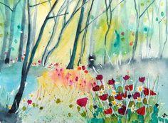 Original Watercolour Painting - WOODLAND EDGE | eBay