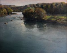 "Peter Campbell, ""El Rio"" Oil on Canvas, 16"" x 20"""
