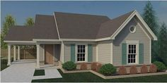 House Plan 44929 | Traditional    Plan with 1067 Sq. Ft., 3 Bedrooms, 2 Bathrooms, 1 Car Garage