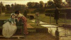 """Ten Minutes to Decide"", 1866, by George Dunlop Leslie (British, 1835-1921)"