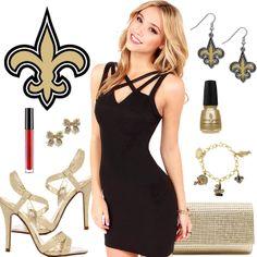 Women s New Orleans Saints Fantasy Dress Look Football Fashion 6a4e62348