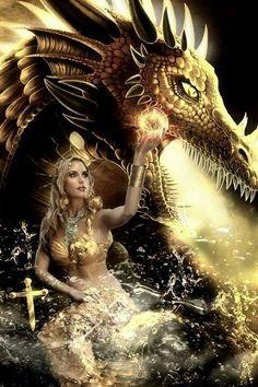 ideas for fantasy art women mystic faeries Magical Creatures, Fantasy Creatures, Fantasy World, Dark Fantasy, Dragon Medieval, Arte Game Of Thrones, Game Of Thrones Characters, Dragon Dreaming, Dragon Girl