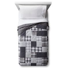 Hand Stitched Patchwork Plaid Quilt - Pillowfort™ : Target