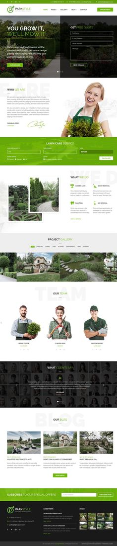 Parkstyle is well design PSD template for for gardening, #lawn care, and exterior #design portfolios #website. Download Now!