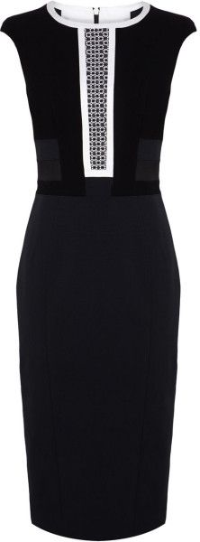 Karen Millen Black Sleeveless Dress SS-2015#CuteDress @Lyst                                                                                                                                                     More