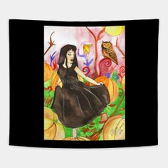 Tapestries by fairychamber Art And Illustration, Wall Tapestries, Tapestry, Whimsical Art, Disney Characters, Fictional Characters, Disney Princess, Halloween, Painting