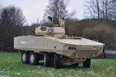 An armoured personnel carrier (APC) is a type of armoured fighting vehicle offer enhanced protection, enabling safer infantry deployment in Army Vehicles, Armored Vehicles, Patria Amv, Offroad, Armoured Personnel Carrier, Armored Truck, Tank Armor, Armored Fighting Vehicle, Military Equipment