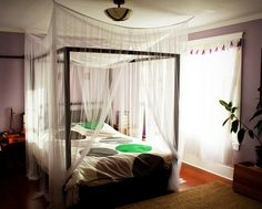 I really wanted a canopy for our bed. I absolutely love it, but Ariel pointed out (rightly) that I somehow have the same dream bedroom as most 9 year old girls.