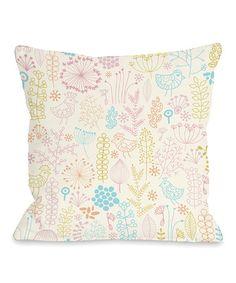 Loving this Pink Jenna's Playground Throw Pillow on #zulily! #zulilyfinds