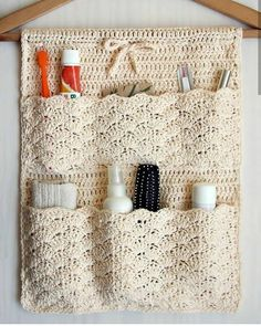 Crochet Basket Tutorial, Crochet Bag Tutorials, Crochet Patterns, Crochet Gifts, Crochet Baby, Knit Crochet, Cute Easy Drawings, Easter Crafts, Getting Organized