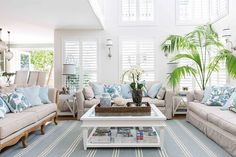 Amazing Hamptons living room makeover