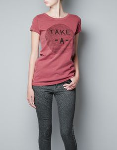 T-SHIRT WITH LETTERS PRINT - T-shirts - Woman - ZARA United States
