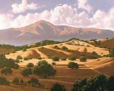 Dave DeMatteo Painting of Santa Ynez Valley