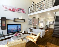 Interior of 718 North Patterson Park Avenue - Open floor plan concept throughout all of our row houses
