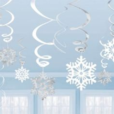 Metallic Snowflake Swirls - 12 Pack