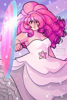 rose quartz, steven universe, and rose image