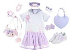 """""""Sailor schoolgirl~★"""" by sweetpasteldream ❤ liked on Polyvore featuring adidas Originals"""