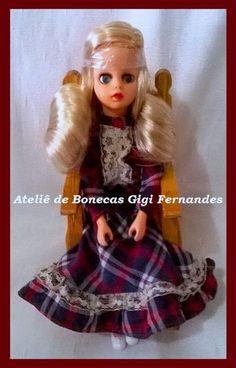 Boneca Susi Naninha, Estrela, 1979, restaurada pelo Ateliê de Bonecas Gigi Fernandes ateligigifernandes@gmail.com