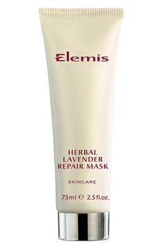 Elemis Herbal Lavender Repair Mask. This powerful regenerating mask contains antiseptic rosemary, thyme and lavender essential oils, which synergistically rebalance and purify the skin, making this the ideal mask for sallow and youthful skins prone to congestion.