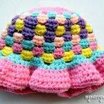 Granny Stitch Sun Hat – Baby Girl {free crochet pattern}