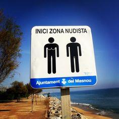 Platja del Masnou en El Masnou, Cataluña