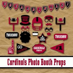 Arizona Cardinals Football Photo Booth Props and Party Decorations