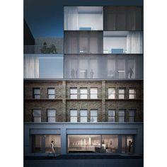 a f a s i a: Duggan Morris Archtiects Brick Architecture, Contemporary Architecture, Architecture Details, Interior Architecture, Building Facade, Building Design, Duggan Morris, Roof Extension, Brick Facade