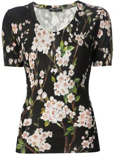 DOLCE and GABBANA Floral Print Top