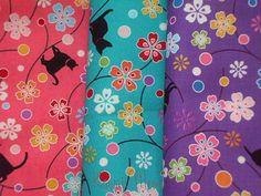 Japanese Fabric - Sakura Cats