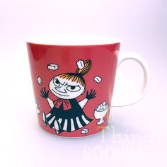 The new red Little My mug by Arabia coming in February Moomin Mugs, Moomin Valley, Tove Jansson, Little My, Scandinavian Style, My Coffee, Tea Set, Finland, Mugs