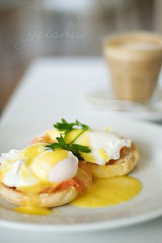 Eggs Benedict - Coles favorite...I'm still not a fan of the sauce...maybe someday it'll grow on me. (0= Ya for poaching eggs!