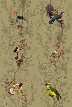 Birds n Bees fabric* Timorous Beasties