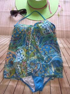 Lauren Ralph Lauren Blue Paisley One Piece Swimsuit Size 8 Swimwear    Clothing, Shoes & Accessories, Women's Clothing, Swimwear   eBay!