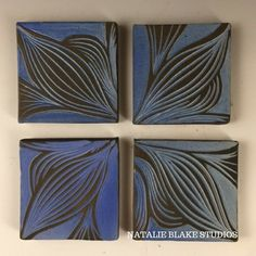 Denim Tile Coaster Set product_type Natalie Blake Studio Shop
