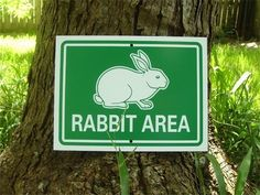 Rabbit Sign  Rabbit Area by AuthenticSigns on Etsy, $14.00. Perfect for a bunny garden!