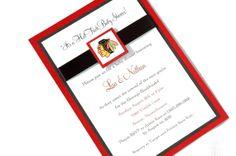 *Holy Moly!  I love these!  Custom Chicago Blackhawks Hawks Hockey NHL Baby by marrymedesigns, $3.00