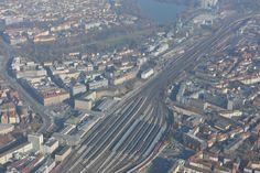 Der Nürnberger Hauptbahnhof, unbearbeitet ...