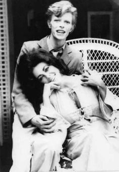 David Bowie and Elizabeth Taylor.
