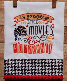 We go together like movies and popcorn by seechriscreate on Etsy