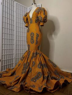 Image of Custom Orders African Prom Dresses, Latest African Fashion Dresses, African Wear, African Dress, Christine Fashion, Mode Wax, Trendy Ankara Styles, African Traditional Dresses, Queen Fashion