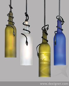 Meyda Lighting art glass Wine Bottle Pendants. Meyda Lighting is a division of Meyda Tiffany, the nation's leading manufacturer and designer of Tiffany lamps and stained glass lighting and accessories.
