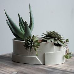 Small Oval Porcelain Planter - Tiered Collection