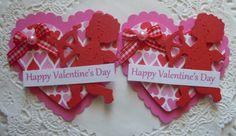 Valentine Heart Paper Embellishments-Set Of 2-Cupid on Etsy, $3.99