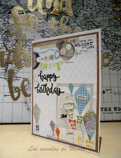 Los mundos de Mentx: Tarjeta de cumpleaños trotamundos / Traveller birt...