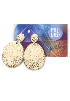 Gossling Harvest of Gold x Emily Green Drop Earrings