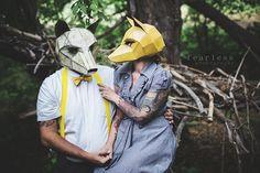 Máscaras Geométricas de Papel por Steve Wintercroft | FuriaMag | Arts Magazine