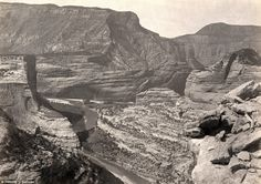 Landscape: Browns Park, Colorado, as seen by Timothy O'Sullivan in 1872 as he chartered the landscape for the first time. Historians have noted that even though the photographer had become a more-than-experienced explorer at this point, the ordeals of the Wheeler survey tested him to the extremes of his endurance