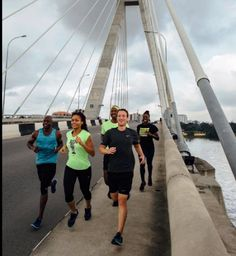 Running around the world in 2016 and beyond. Billionaire Mark Zuckerberg recalls his exercise on Lekki-Ikoyi link bridge Run Around, Billionaire, Bridge, Fair Grounds, Around The Worlds, Exercise, Running, Travel, Link